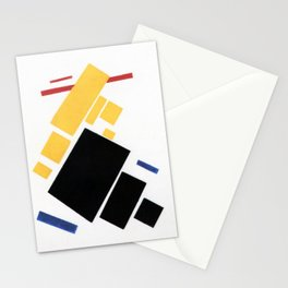 Airplane by Kazimir Malevich - Vintage Painting Stationery Cards