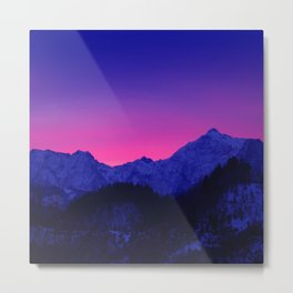 Dawn in Mountains Metal Print
