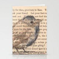 waldo Stationery Cards featuring Ralph Waldo Emerson Bird by Wendy Roscoe Designs