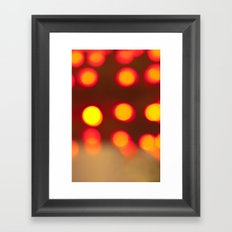 Fiery Lights Framed Art Print