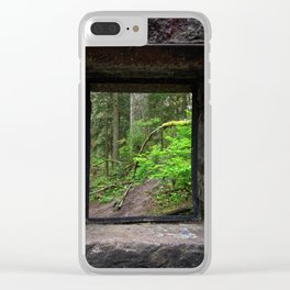 Stone House Window Clear iPhone Case