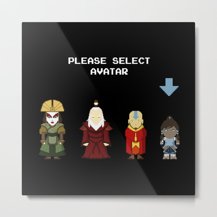Avatar Selection Screen Metal Print