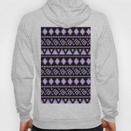 Lavender black tribal geometrical abstract pattern Hoody