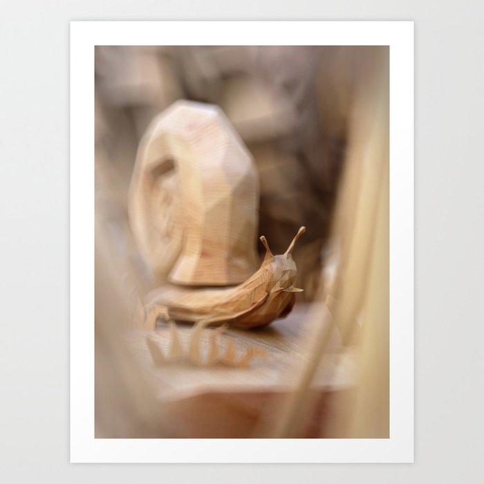 PolyWood Snail 01 Art Print