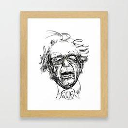Feel the Bern (black & white) Framed Art Print