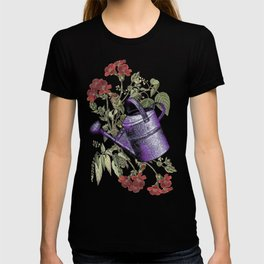 Floral with Watering Can T-shirt