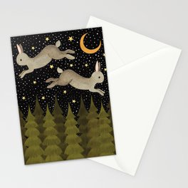 midnight hare Stationery Cards