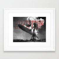 led zeppelin Framed Art Prints featuring Zeppelin by Blaž Rojs
