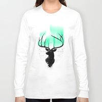 northern lights Long Sleeve T-shirts featuring Northern Lights by angrymonk