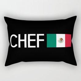 Chef (Mexican Flag) Rectangular Pillow