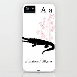A/Alligator iPhone Case