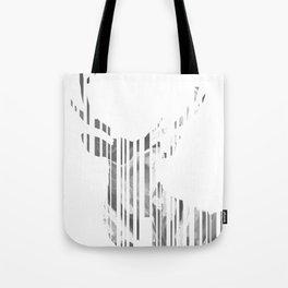 Geometric black Stag Tote Bag