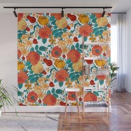 Vintage flower garden Wall Mural
