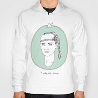 grimes Hoodies featuring Grimes by Anna Wanda Gogusey
