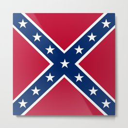 Confederacy Battle Flag Of Virginia Metal Print
