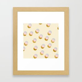 Gold and Pastel Framed Art Print