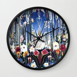Flowers, Italy by Joseph Stella Wall Clock
