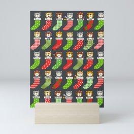 A BEARY MERRY CHRISTMAS Mini Art Print