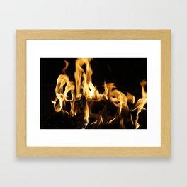 Summer Fire Framed Art Print