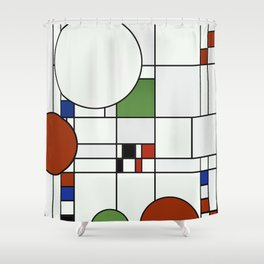 Abstract Composition 425 Shower Curtain