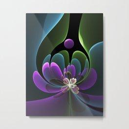 Decorative Flower Fractal, Floral Fantasy Metal Print