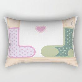 Love by socks Rectangular Pillow