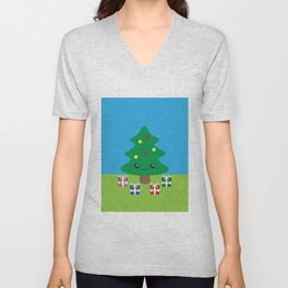 Christmas Tree Unisex V-Neck
