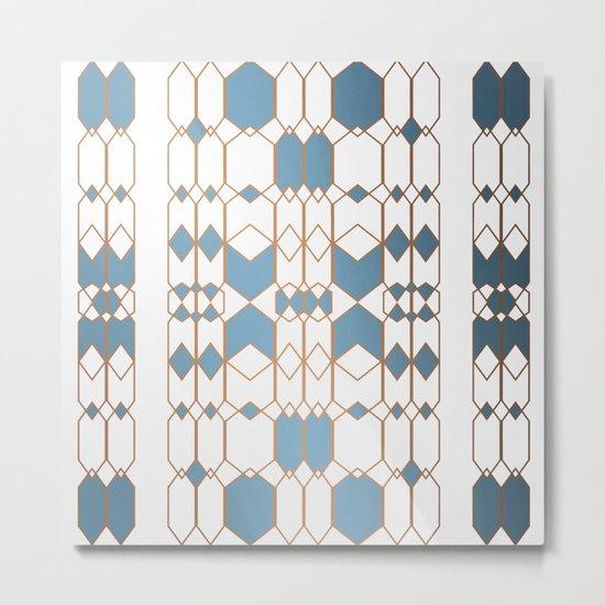 Patternbronze #1 Metal Print