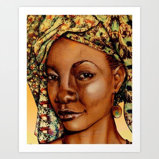 Madame Brouette Art Print