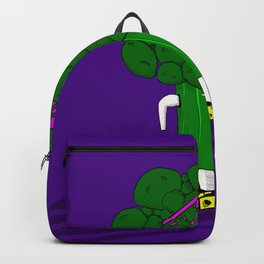 Broccoli Cartoon Eat Me Backpack