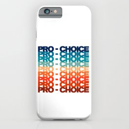 Pro Choice Retro 80's Style A iPhone Case