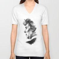 sherlock holmes V-neck T-shirts featuring Sherlock Holmes by aleksandraylisk