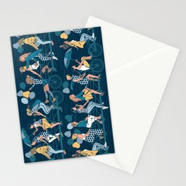 Sisterly riding the world together Stationery Cards