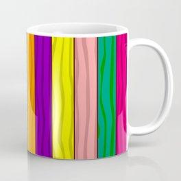 Rainbow Fence Coffee Mug
