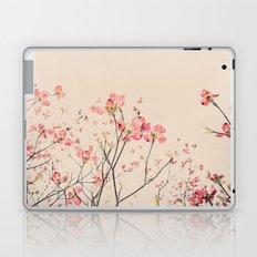 Vintage Spring Botanical, Peaches and Cream -- Pink Dogwood Flowers on Ivory Ground Laptop & iPad Skin