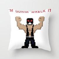 wreck it ralph Throw Pillows featuring Bane's Gonna Wreck It by LegoBatman