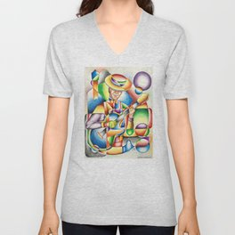 Jazz At Point Ybel Unisex V-Neck