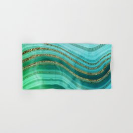 Ocean Blue And Green Mermaid Glamour Marble Hand & Bath Towel