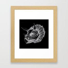Triceratops negative drawing Framed Art Print