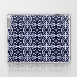 Japanese Yukata Jinbei Asanoha Navy blue Laptop & iPad Skin