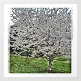 Sterling Silver Tree Art Print