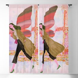 Butterfly girl Blackout Curtain