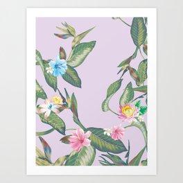My tropical hibiscus pattern Art Print