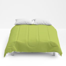 Simple Solid Color Avocado Green All Over Print Comforters