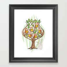 Owl Tree Framed Art Print