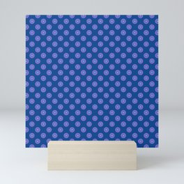 Lavender Blue Polka Dot Pattern Mini Art Print