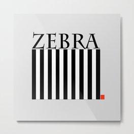 Zebra Crossing Metal Print