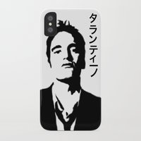 quentin tarantino iPhone & iPod Cases featuring QUENTIN TARANTINO by Tia Hank