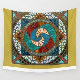 Fire & Water Mandala Wall Tapestry