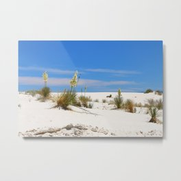 Soap Yucca At White Sand Metal Print